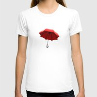 Red Umbrella Womens Fitted Tee White SMALL