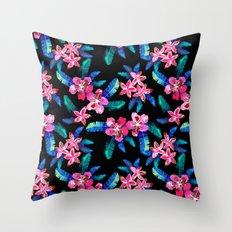 Tahitian Garden {B} Throw Pillow
