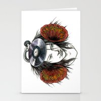 Record Head Stationery Cards