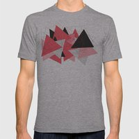 Triangle U185 Mens Fitted Tee Athletic Grey SMALL