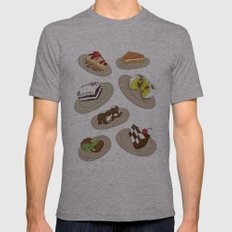 desserts Mens Fitted Tee Athletic Grey SMALL
