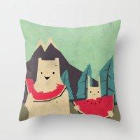 I Want Moaarrr! Throw Pillow