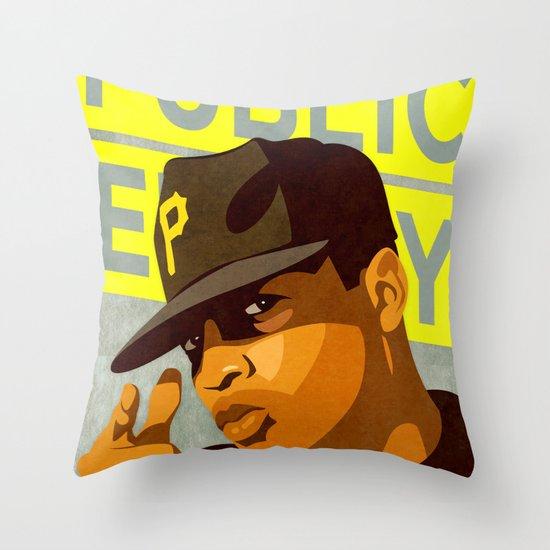 Chuck D Throw Pillow