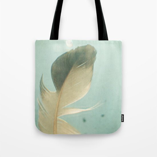 Grey Feather Tote Bag