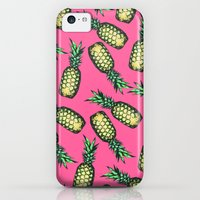 iPhone 5c Cases featuring Pineapple Pattern by Georgiana Paraschiv