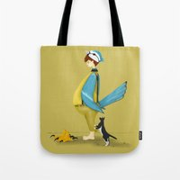 Blue Chickadee Tote Bag