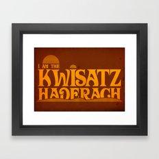 Kwisatz Haderach Framed Art Print