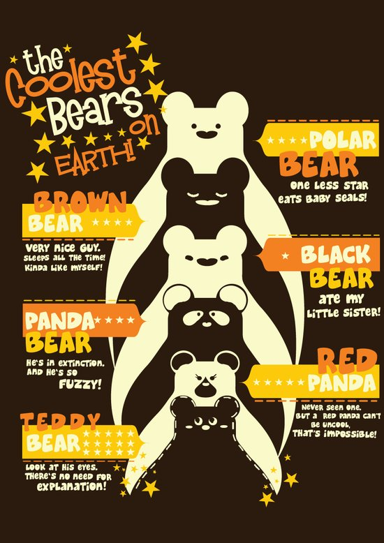 The Coolest Bear on Earth Art Print