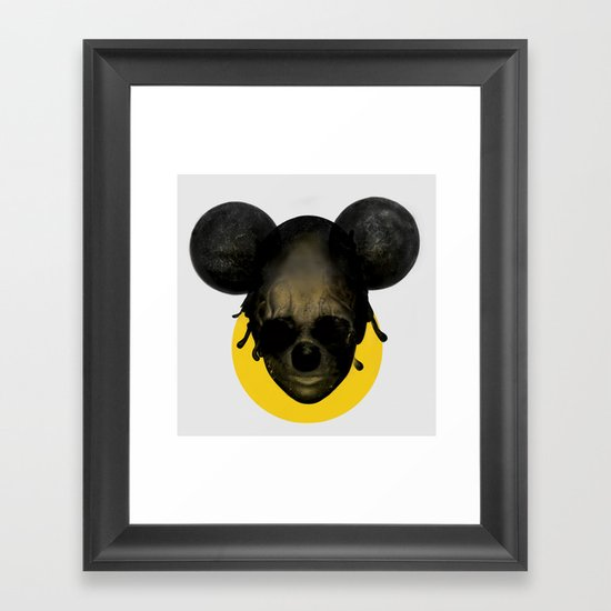 Weird Mickey Mouse Framed Art Print By Uini Society6