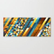 Geometric Sunset Panoramic Canvas Print