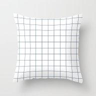 Chek - Check Grid Simple… Throw Pillow