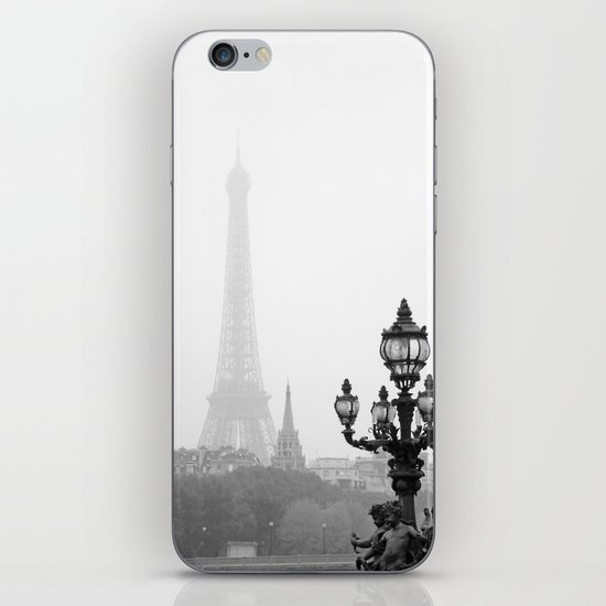 Veiled Eiffel Tower iPhone & iPod Skin