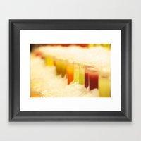 Frozen Colors Framed Art Print