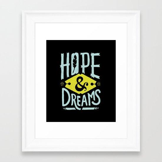 Hope and Dreams Framed Art Print