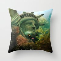 East Coast Sightseeing Throw Pillow