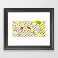 New York map design - empire state building area Framed Art Print