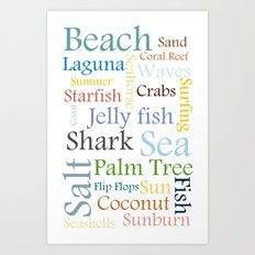 Beach Theme Art Print