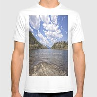 Colorado Mountains Mens Fitted Tee White SMALL