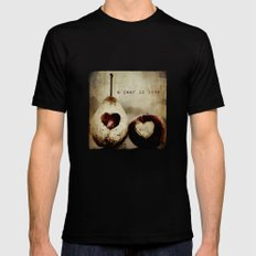 a pear in love Mens Fitted Tee Black SMALL