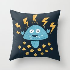 Heavy Metal Mushroom Throw Pillow