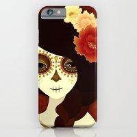 iPhone & iPod Case featuring La Muertita by Jenny Lloyd Illustration