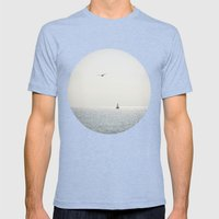 Fly Over The Sea Mens Fitted Tee Tri-Blue SMALL