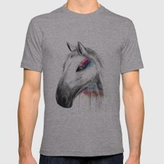 Rainbow Horse Mens Fitted Tee Athletic Grey SMALL