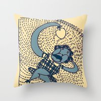 laziness Throw Pillow