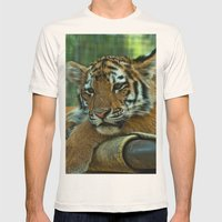 Baby Tiger Mens Fitted Tee Natural SMALL