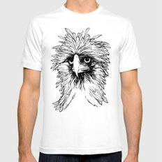 Hawk  Mens Fitted Tee White SMALL