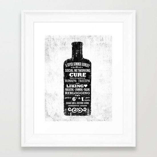 The Social Remedy  - Tonic Framed Art Print