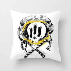 I COME IN PIECE Throw Pillow