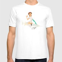 nurse Mens Fitted Tee White SMALL
