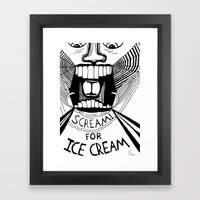 I Scream for Ice Cream Framed Art Print