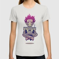 Eye Opener Womens Fitted Tee Silver SMALL