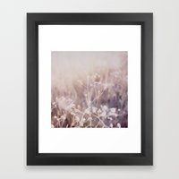 Twigs Polaroid Framed Art Print