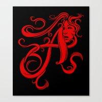 Scarlet Letter Canvas Print