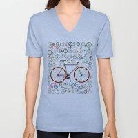 Love Fixie Road Bike Unisex V-Neck