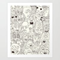 Faces of Math (no color edition)  Art Print