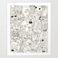 Faces Of Math (no Color … Art Print