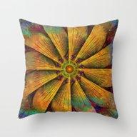 Mandala - Antiqued Throw Pillow