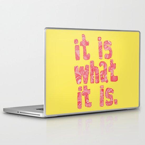 What It Is Yellow Laptop & iPad Skin