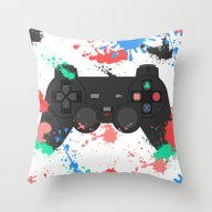 Controller Graffitti PS Throw Pillow