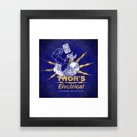 Thor - Thor's Electrical Framed Art Print