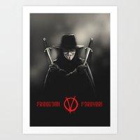 V For Vendetta (e2) Art Print