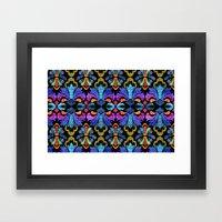 Dramatic Damask Framed Art Print