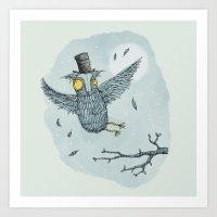 'Mr Owl' Art Print