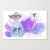 God Save McQueen Canvas Print