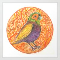 Bird in a Thicket Art Print