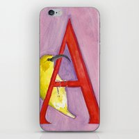 A for 'Akiapola'au iPhone & iPod Skin